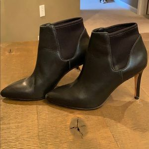 Loeffler Randall black leather booties - size 6.5